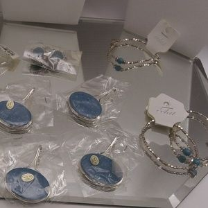 NWTS $107 RETAIL 6 BRACELETS & 4 BROOCHES/PENDANTS